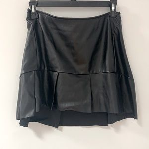Connection 18 Leather Mini Skirt